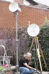 John Hazell G8ACE in QSO