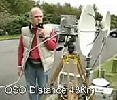 Ian Lamb G8KQW/p in QSO with John Hazell G8ACE/p